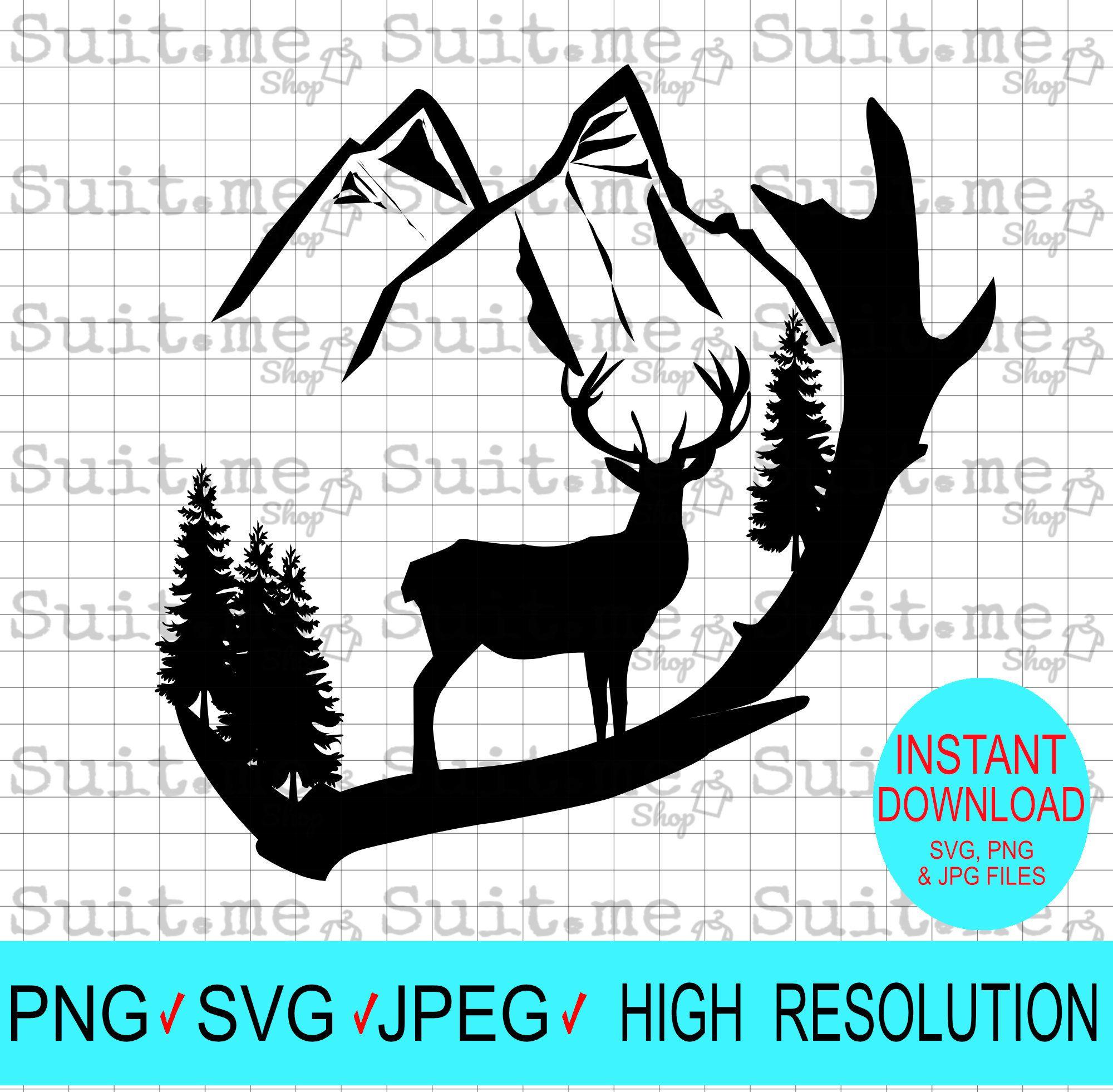 Deer svg Deer antler svg hunting svg Deer Hunting Season