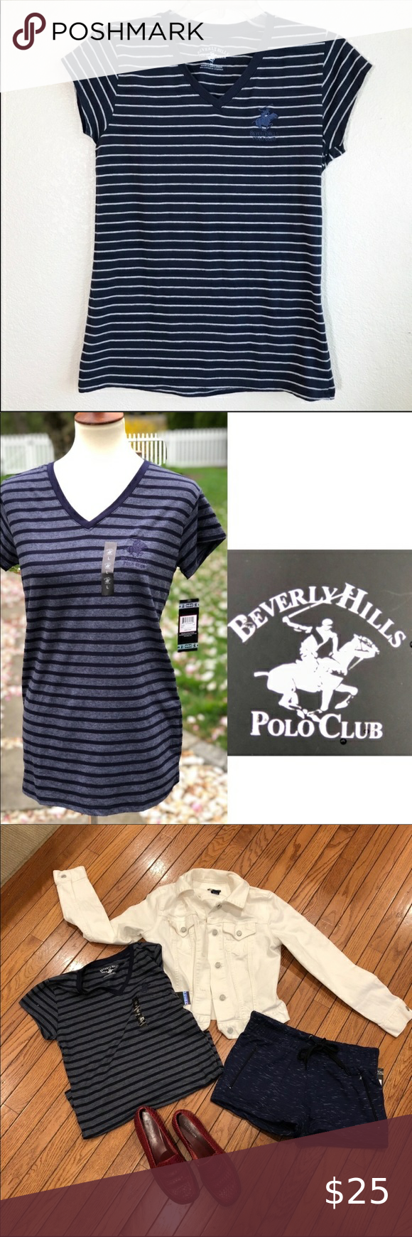 Beverly Hills Polo Club T Shirt Beverly Hills Polo Club T Shirt With Embroidered Logo Quality T Shirt Beverly Hills Polo Club Pink Activewear Blue Polo Shirts