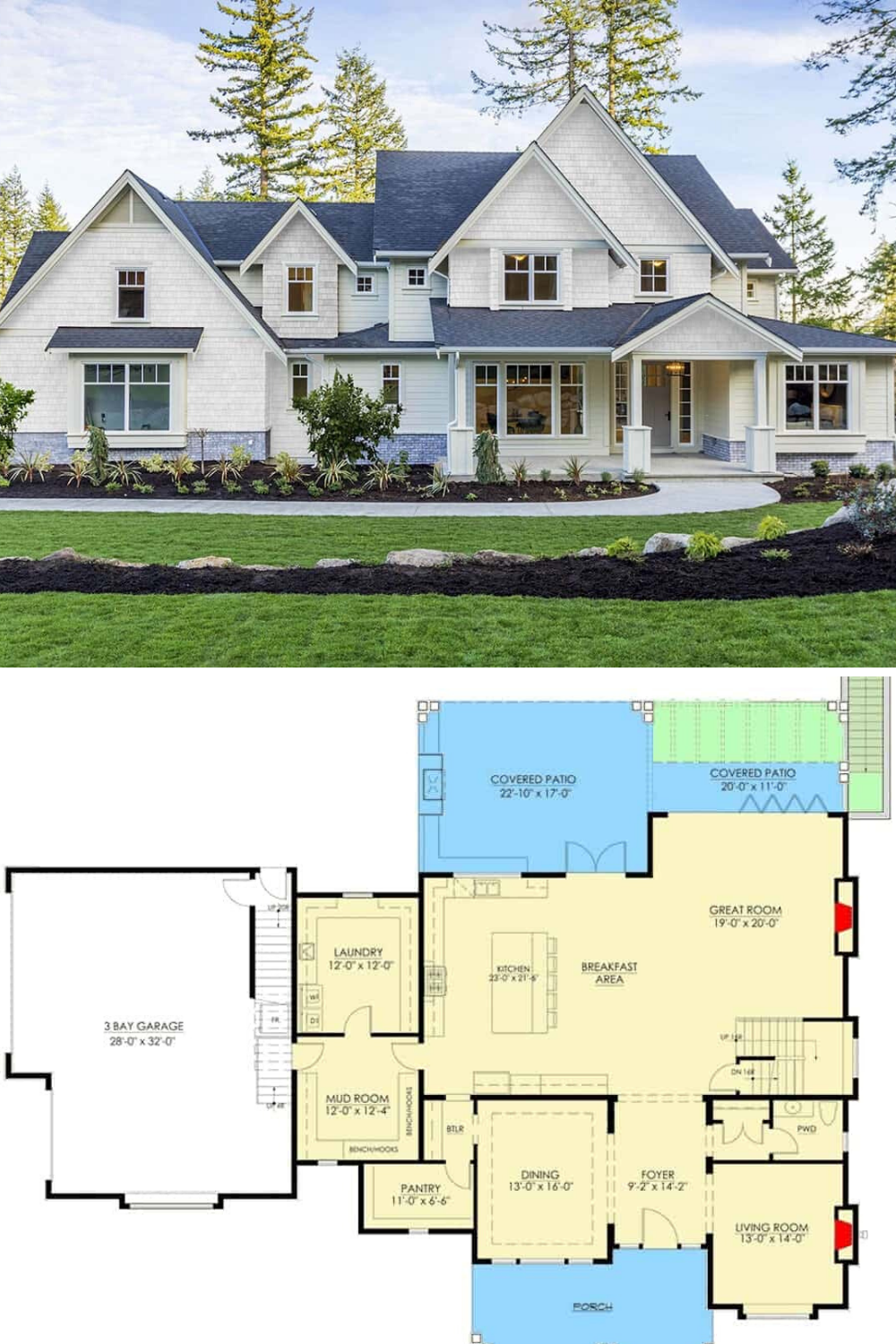 Architectural Designs Luxury Craftsman Farmhouse Plan 23364jd Gives You 3 Levels Of Living If You Craftsman Farmhouse Mansion Floor Plan Craftsman House Plans