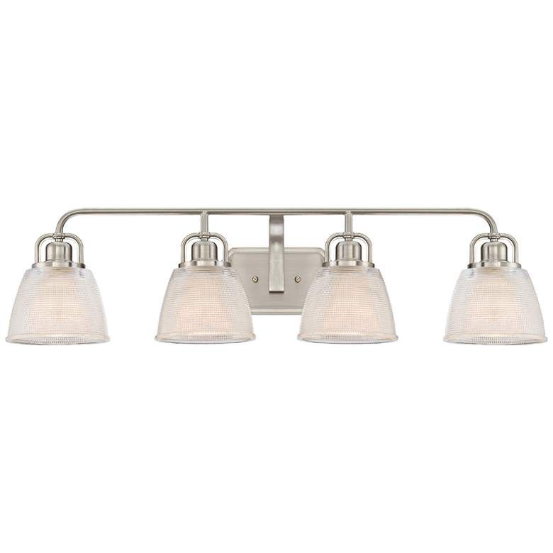 Photo of Quoizel Dublin 34 1/2″ Wide Brushed Nickel Bath Light – #1P815   Lamps Plus