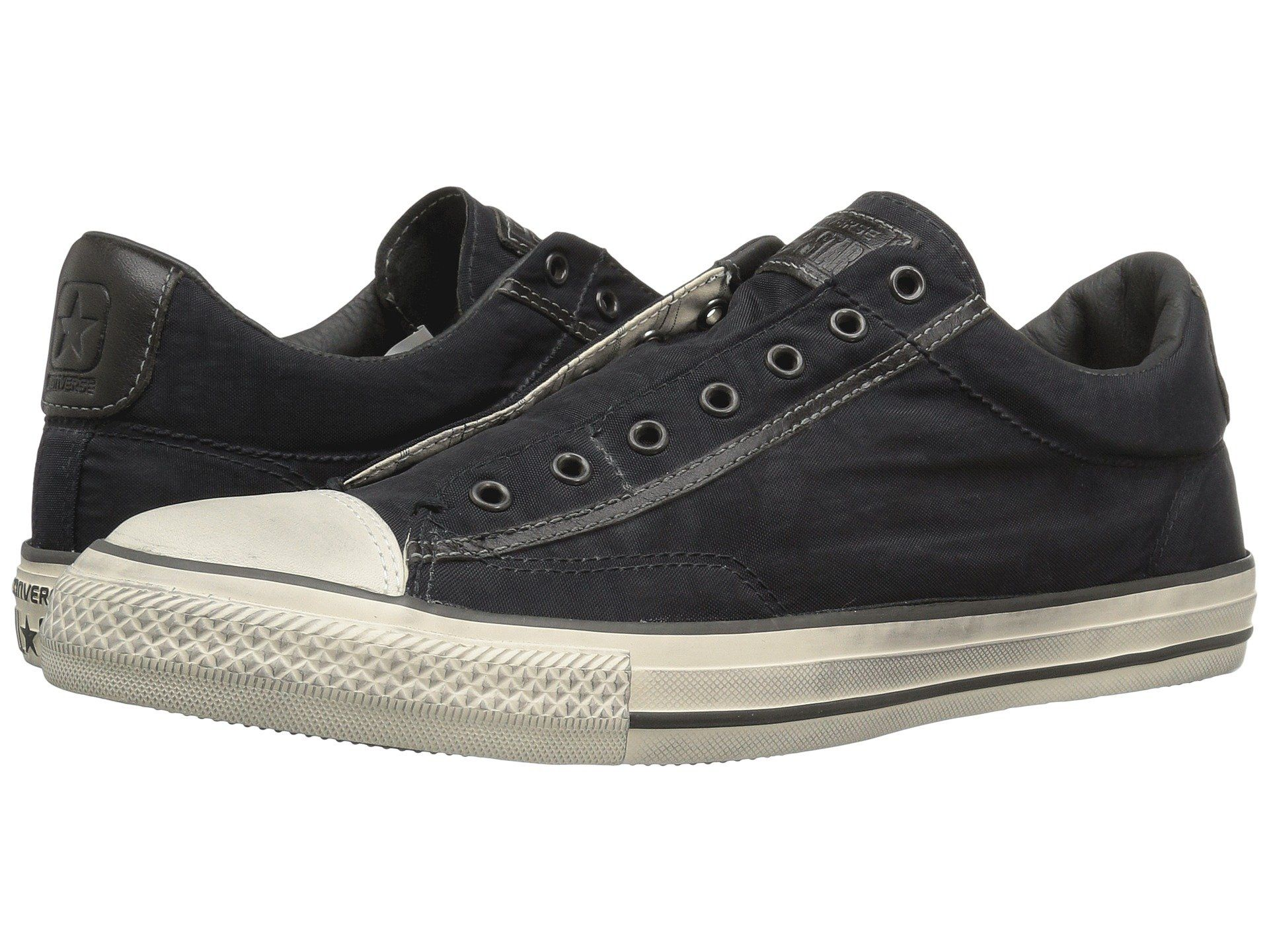 Converse By John Varvatos Chuck Taylor All Star Vintage Slip Painted Nylon  Ox Black Beluga Turtledove, Converse,