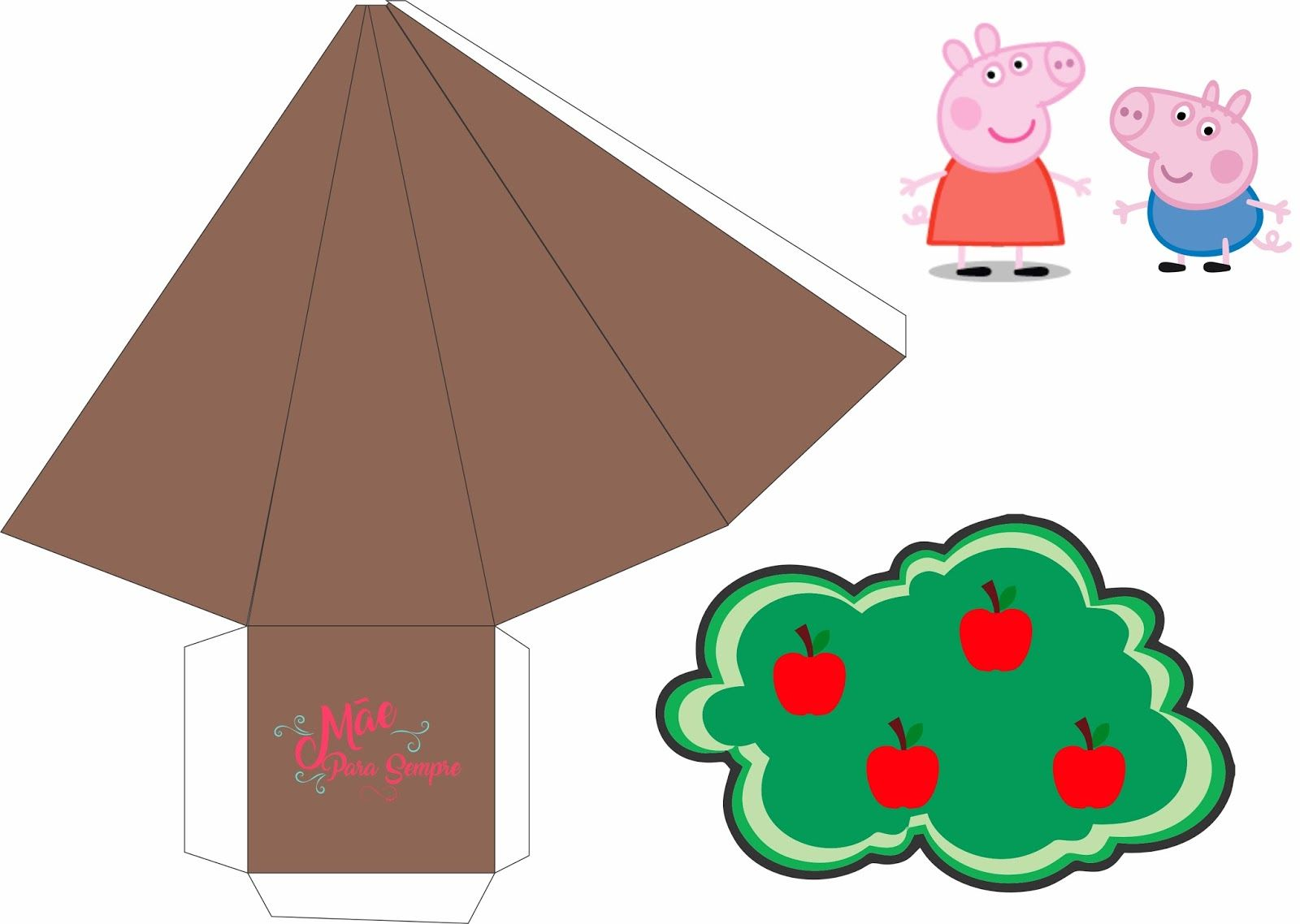 Imagens De Arvore Para Imprimir: Resultado De Imagem Para Molde Arvore Cone Safari Peppa Pig