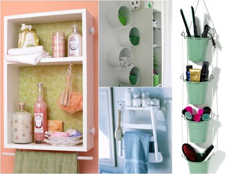 Kosmetika im Badezimmer kreativ aufbewahren mix Pinterest Crafts - badezimmer ideen für kleine bäder