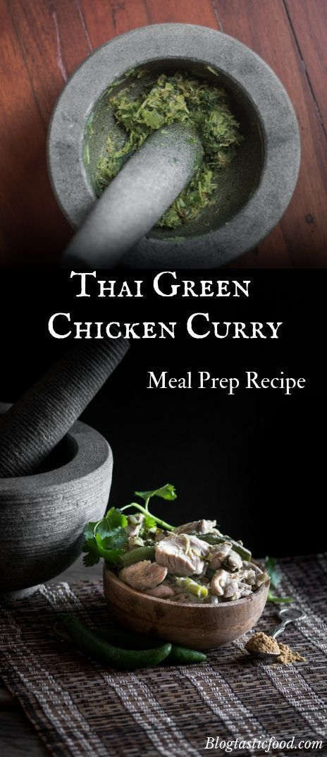 Thai Chicken Green Curry Meal Prep