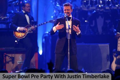 Super Bowl Pre Party With Justin Timberlake