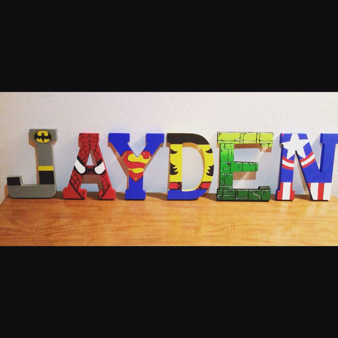 Jayden, Child Name Painted With Avengers Theme. Get Your Name Done For $60  With Part 50