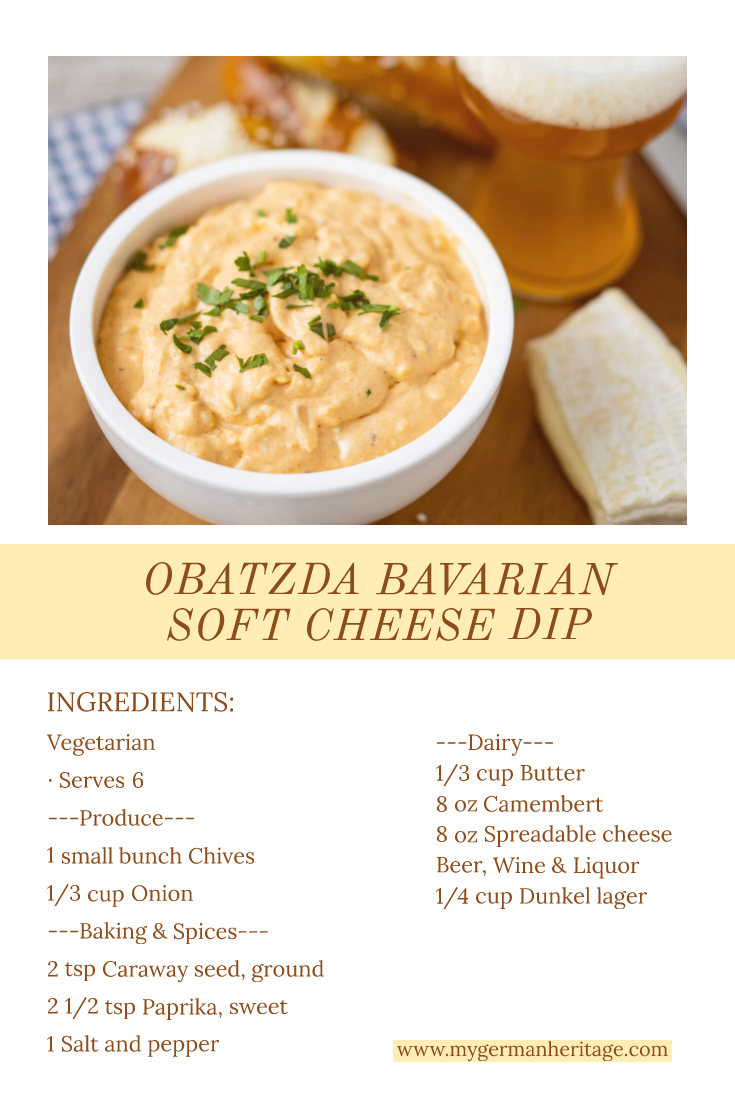 Looking For A Flavorful Snack From Germany Look No Further Than Obatzda Bavarian Soft Cheese Dip Find The Complet German Food Dessert Soft Cheese Rich Recipe