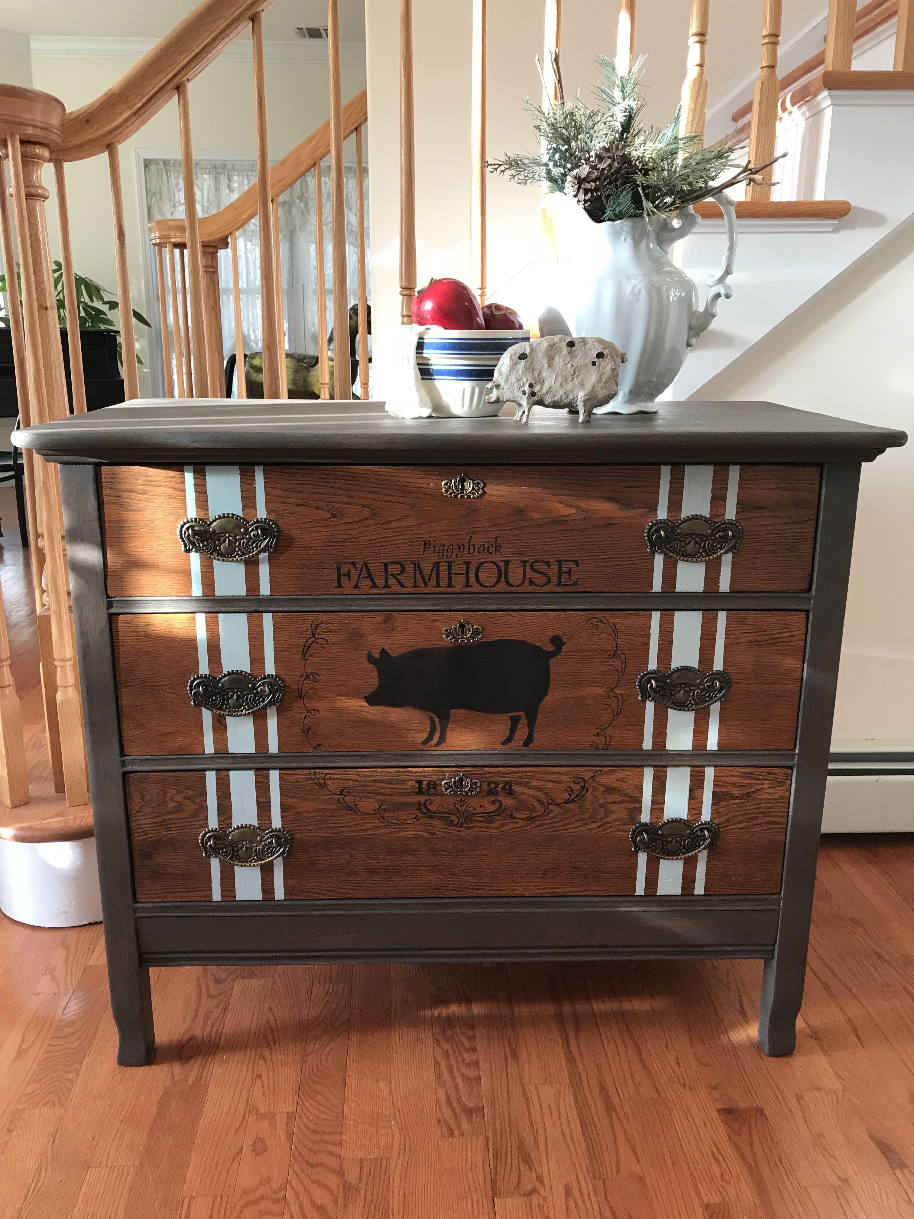 Vintage 1920's Oak Dresser Vintage Farmhouse Dresser for