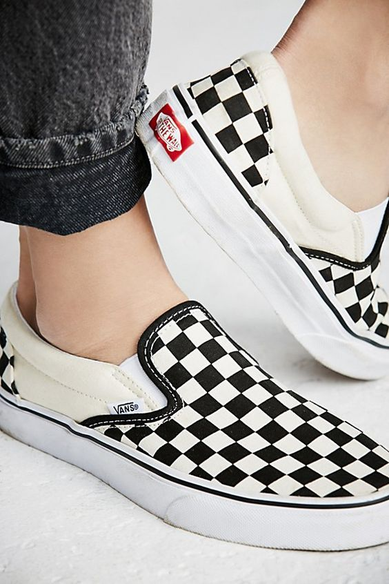Classic Checkered Slip On Vans Slip On Shoes Vans Outfit Shoes