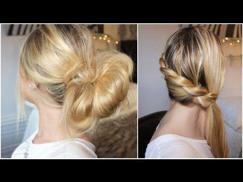 ▶ [ Tuto coiffure n°28 ] : 2 coiffures simples et rapides pour tous les jours ! - YouTube