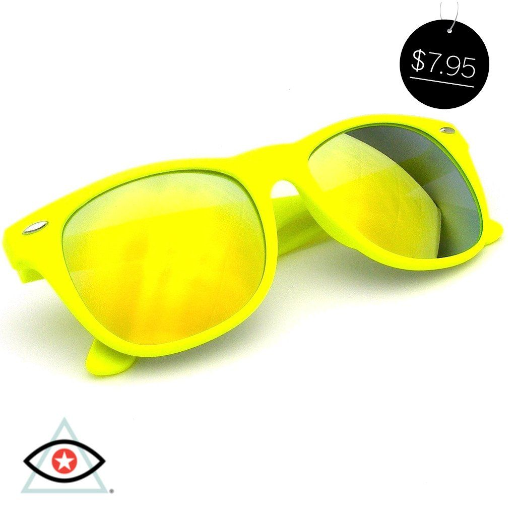 3e1e93ff33 Revo Flash Color Mirror Reflective Lens Neon Wayfarer Sunglasses ...