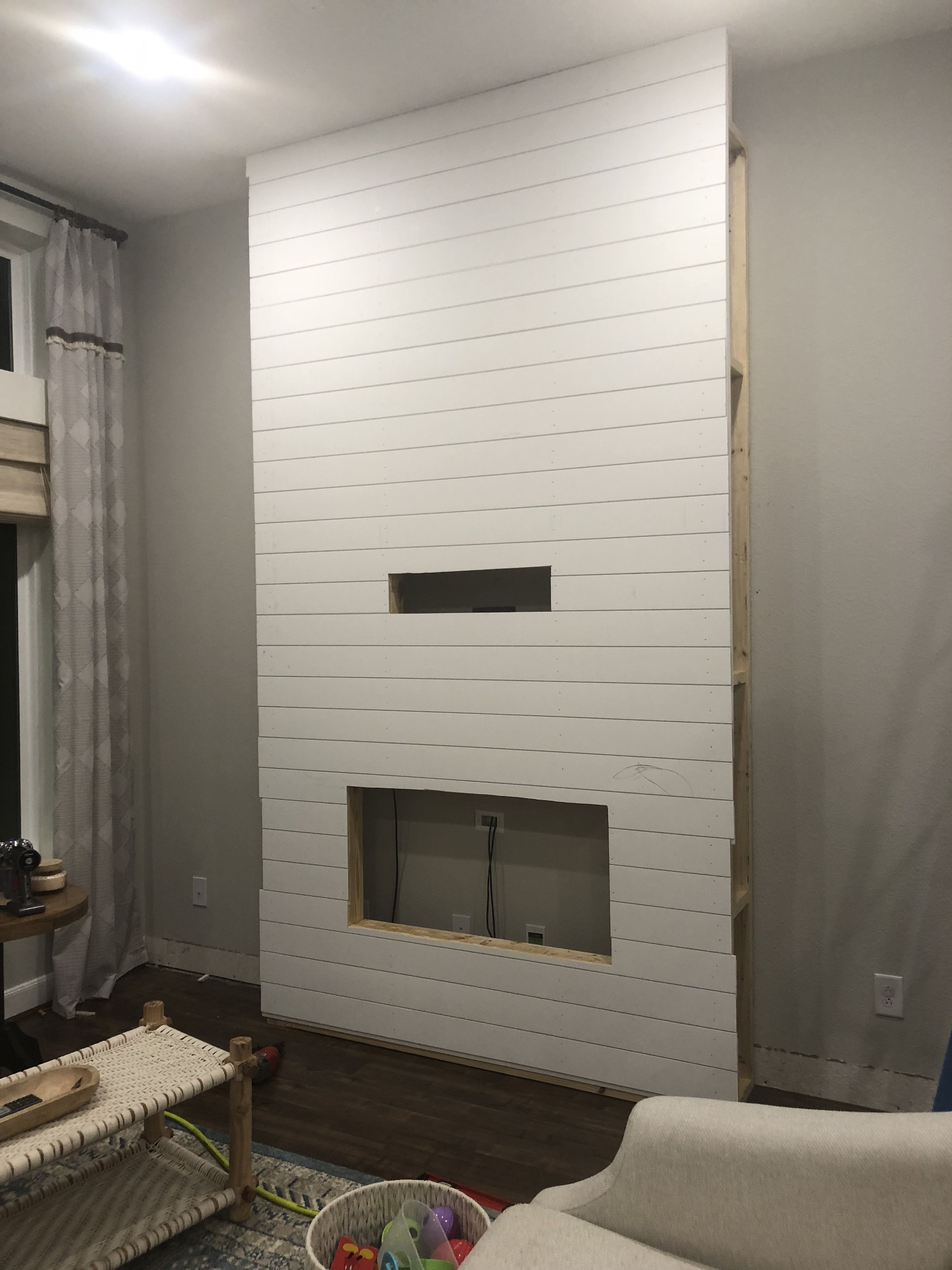 Installing a Fireplace + Our New Samsung Frame TV - The Blooming Nest -