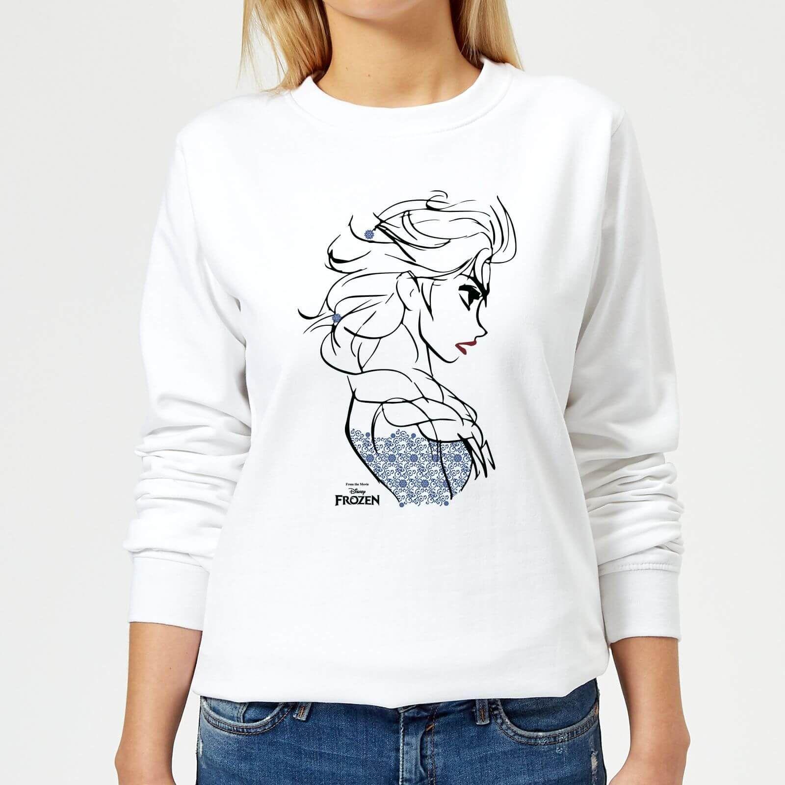 Disney Frozen Elsa Sketch Strong Women S Sweatshirt White Disney Frozen Elsa Sketch Strong Women S Sweatshi Sweatshirts Women White Sweatshirt Sweatshirts [ 1600 x 1600 Pixel ]