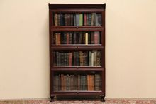 Stacking Mahogany Antique Barrister Bookcase