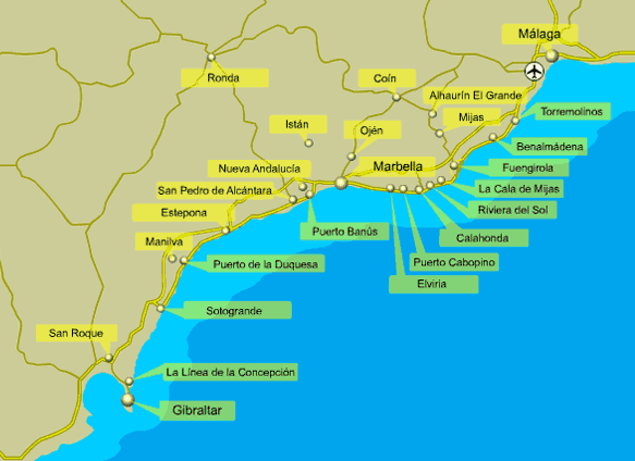 map costa del solpng 583424 costa del sol Pinterest Costa