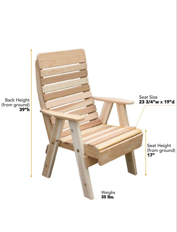 Creekvine Designs Cedar Highback Chair Palletfurniture