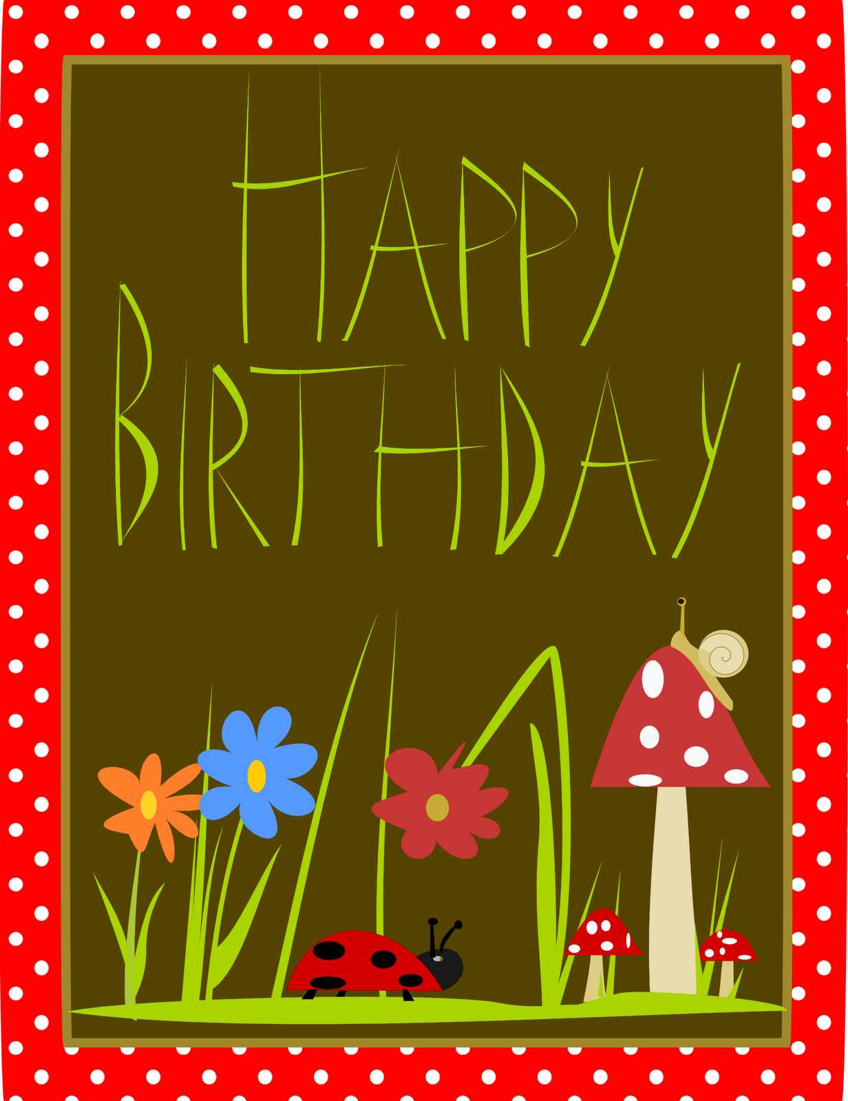 free printable Happy Birthday cards – free Happy Birthday word art ...