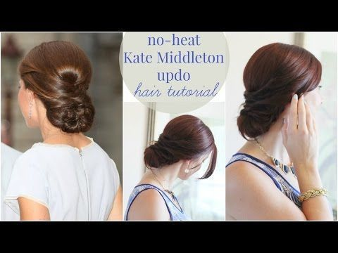 No Heat Kate Middleton Updo #hairupdotutorial Kate Middleton has real princess hair. That's why everyone wants to know how to get her hair specially a Kate Middleton updo! Here's a no-heat style to try! #noheathair No Heat Kate Middleton Updo #hairupdotutorial Kate Middleton has real princess hair. That's why everyone wants to know how to get her hair specially a Kate Middleton updo! Here's a no-heat style to try! #noheathair