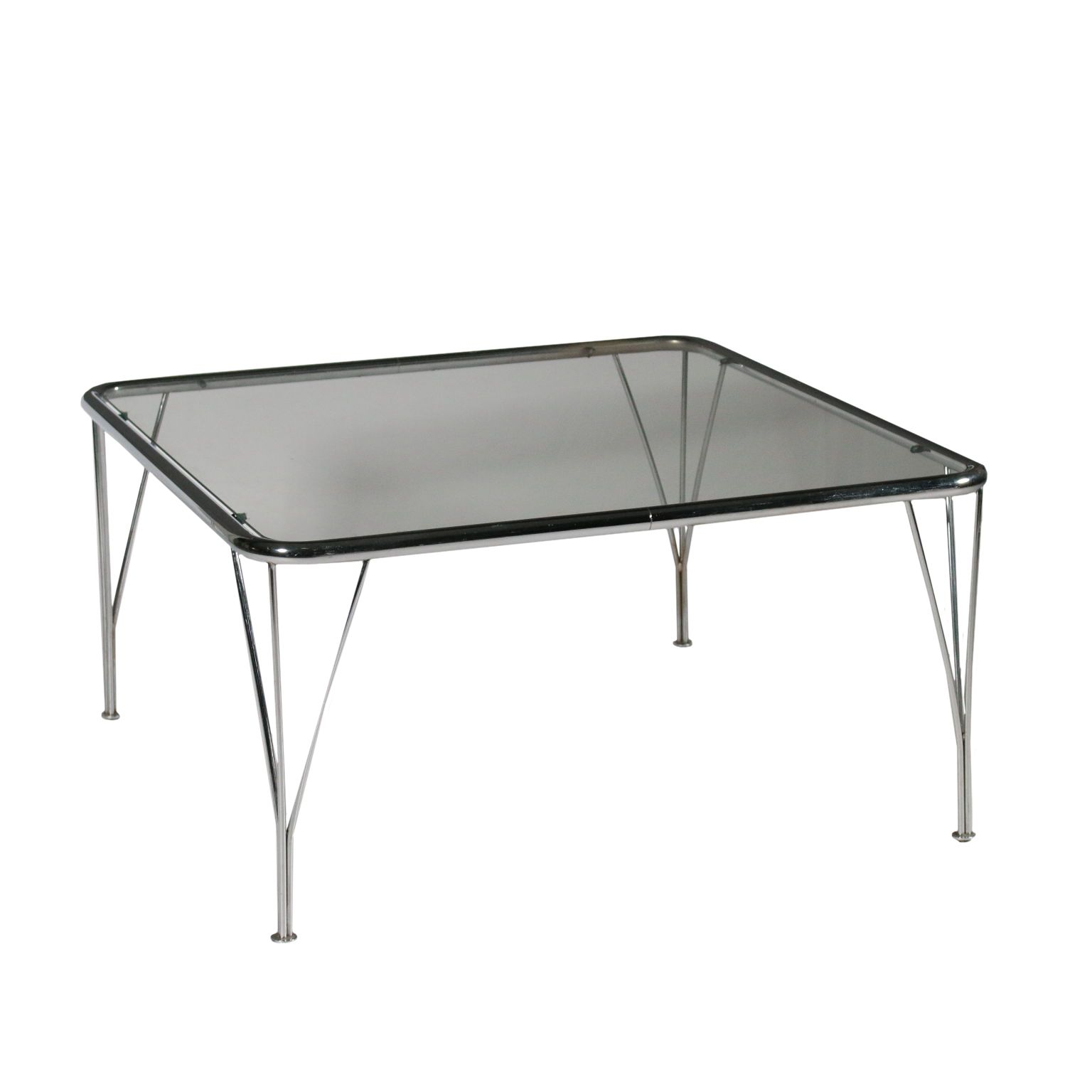Vintage Et Deco Petite Table Metal Chrome Verre Italie Annees 70 80 Petite Table Metal Chromee Verre Fabri Table Metal Table Metal Bois Table Basse Metal