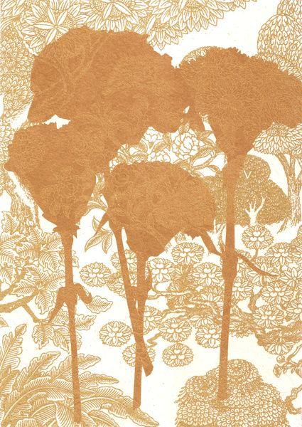 Carnations_Rust Art Print by Garima Dhawan | Society6