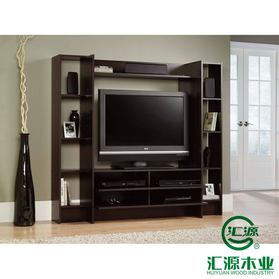Lcd Tv Stand Designs Wooden : Latest design home furniture lcd wall unit led light tv stand design