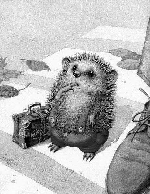 Pin de Cheryl Galvin en art | Pinterest | Erizos, Gifs y Arte