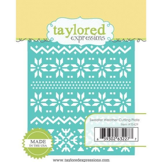 Ellen Hutson, LLC features Taylored Expression Dies, Cutting Plate - Sweater Weather.