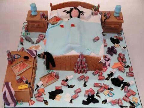 Birthday Cakes For Teenage Girls ~ Teenage bedroom cake amazing cakes pinterest amazing cakes and