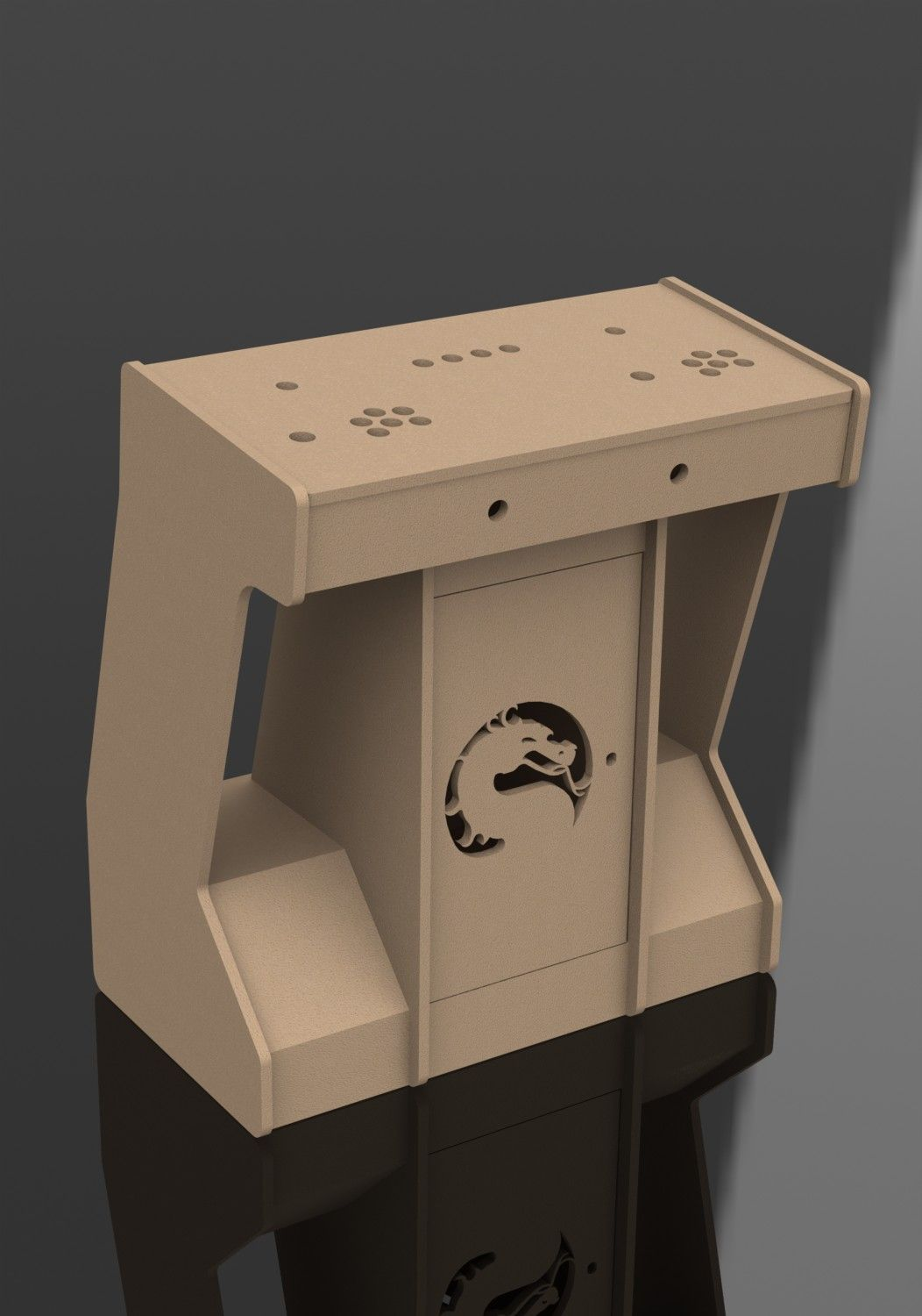 This 2 Player Pedstal Arcade Cabinet Designed By