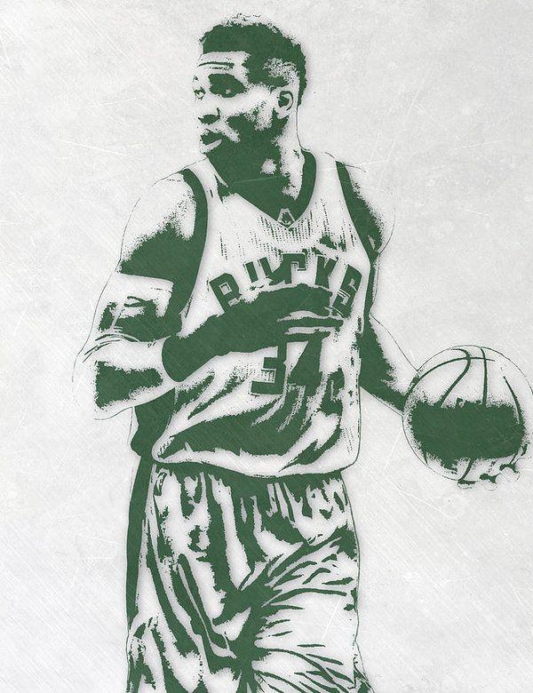 Giannis Antetokounmpo MILWAUKEE BUCKS PIXEL ART 3 Art ...