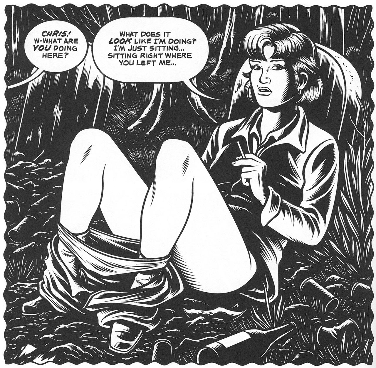 panel from charles burns s black hole other people s art panel from charles burns s black hole