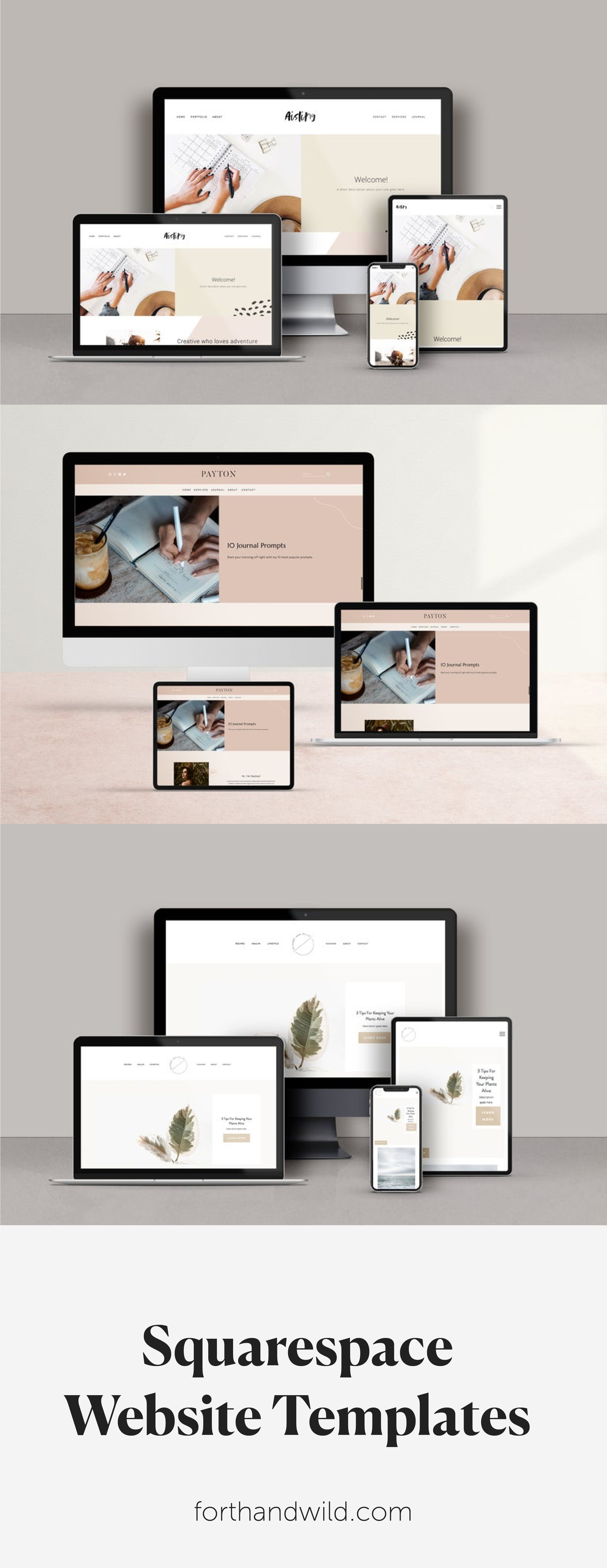 Forth And Wild Squarespace Templates Squarespace Template Design Squarespace Templates Business Card Template Design