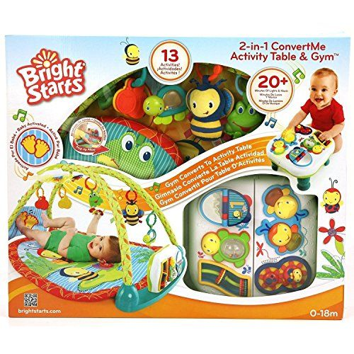 Bright Starts 2 In 1 Musical Bugs Baby Activity Gym Convertible Play Table Click Image Twice For More Baby Activity Gym Bright Starts Baby Gifts