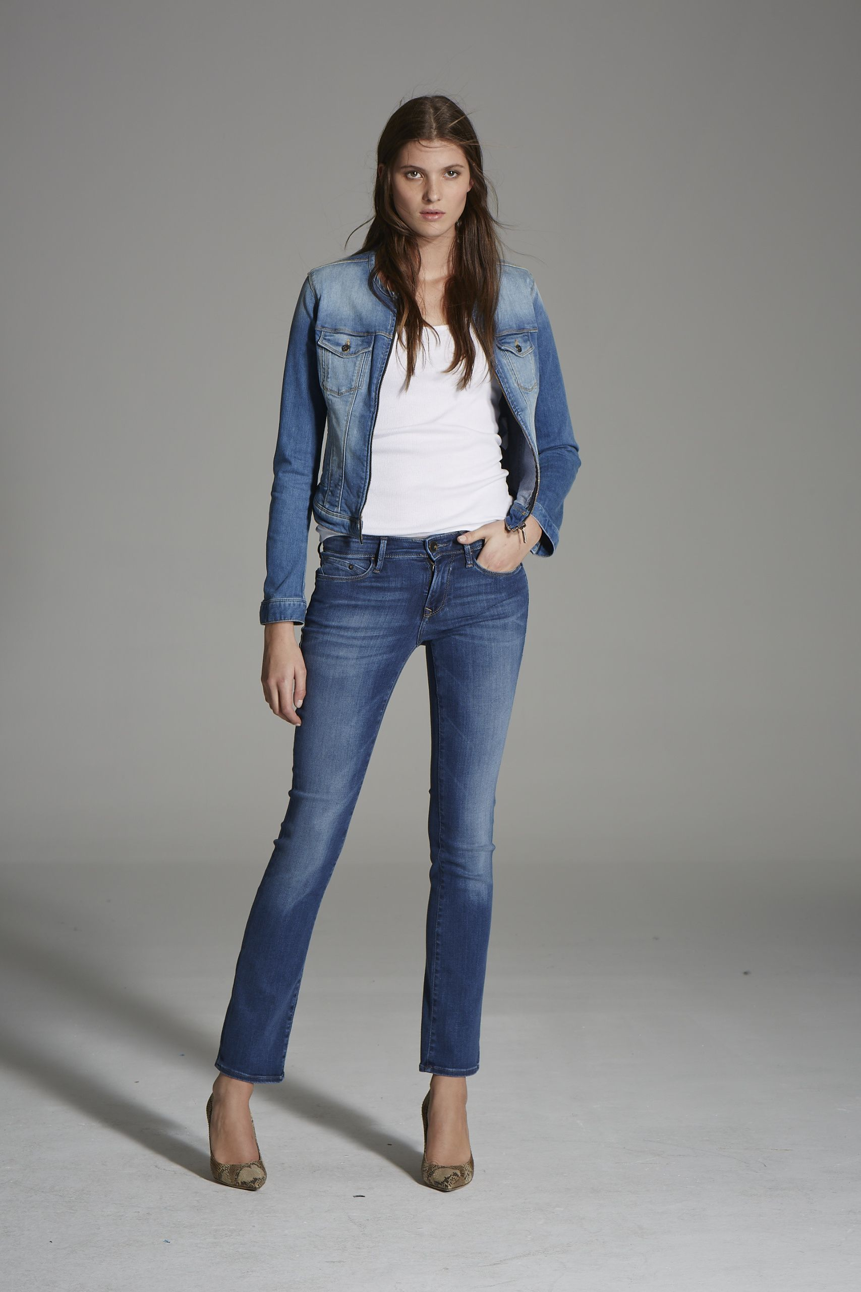 Mavi Claire Denim Jacket + Kerry Straight Leg Jeans | http://us.