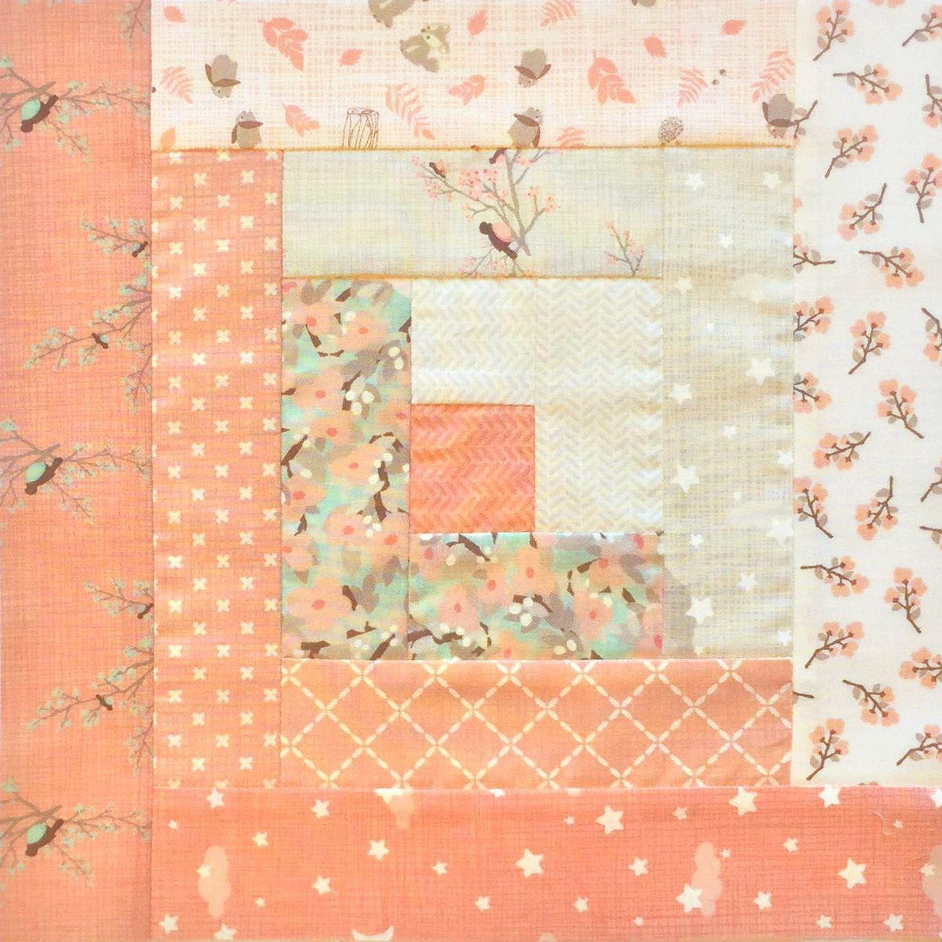 Jordan Fabrics Moda Baby Quilt Pre-Cut Log Cabin Quilt Kit ... : pre cut flannel rag quilt kits - Adamdwight.com