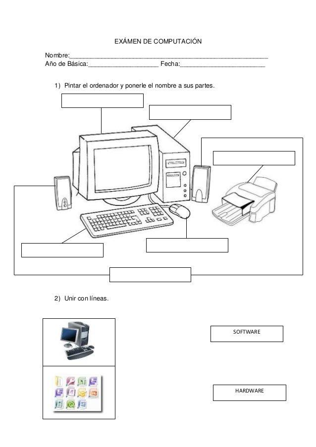EXÁMEN DE COMPUTACIÓN Nombre: Año de Básica: F... | Informática ...