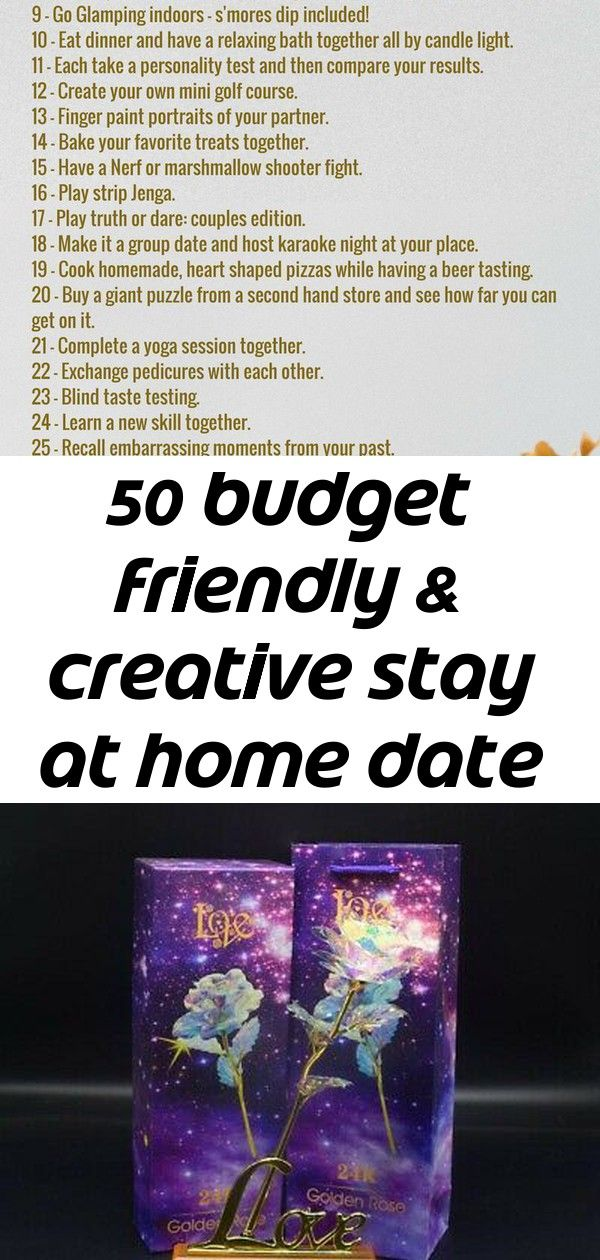 50 budget friendly & creative stay at home date ideas 5