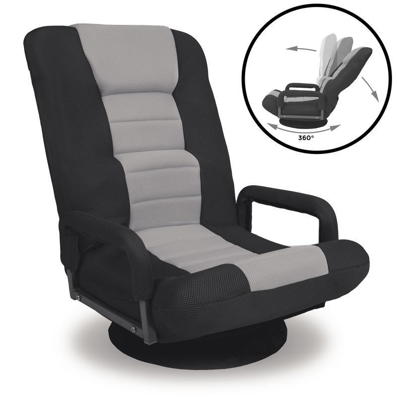 Gaming Floor Chair W 360 Degree Swivel Armrest Adjustable Backrest Floor Chair Chair Lumbar Support Cushion