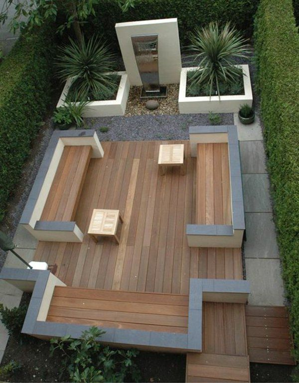 beispiele f r moderne gartengestaltung holzboden gartenm bel pflanzen garden pinterest die. Black Bedroom Furniture Sets. Home Design Ideas