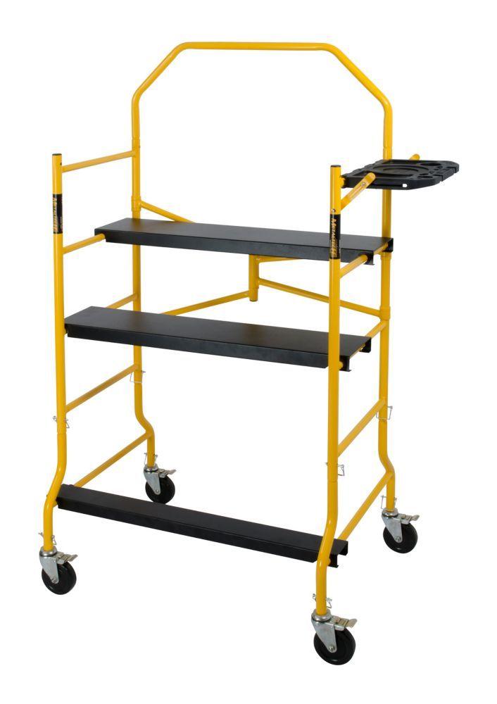 5 Feet Folding Scaffold Work Platform 900lbs Capacity