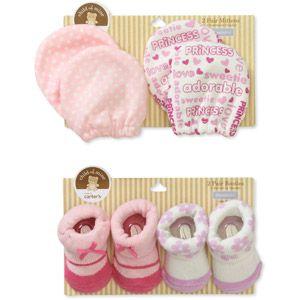 7416db1c4 Child of Mine by Carters Newborn Girls' 2pk Mittens and Keepsake Sock Set