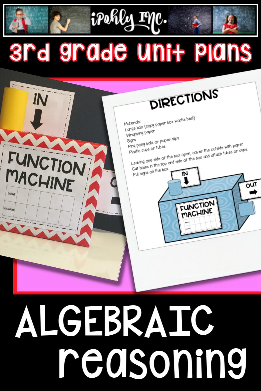 hight resolution of Algebraic reasoning unit plan   Math lesson plans elementary