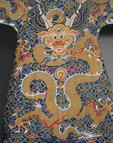 820de50720 Tapestry-woven dragon robe