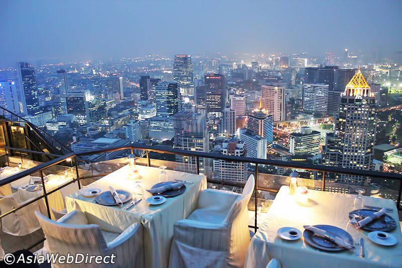 Vertigo Rooftop Restaurant Sky High Dining In Bangkok