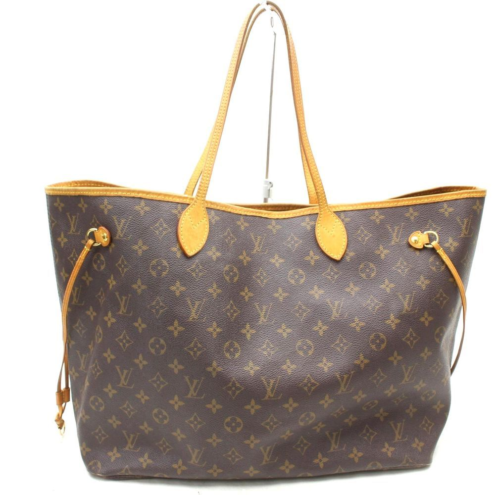 7951c289da7d USA Aut Louis Vuitton Tote Bag Neverfull GM Brown HANDBAG Monogram  199LTO667  LouisVuitton  ToteBag