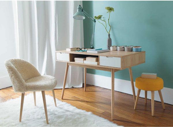 Retro office: fjord vintage desk at maisons du monde home decor