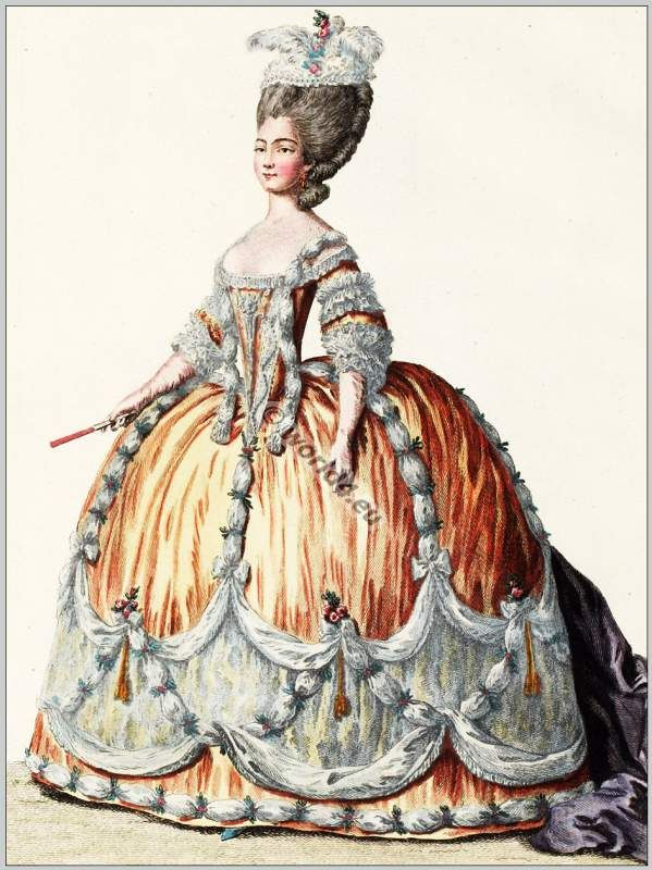 Princess of sardaigne rococo fashion 18th century for French rococo period