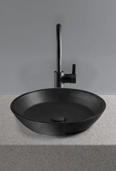 Black Lavatories And Black Lavatory Faucets Toto Waza Noir Black Sink Black Bathroom Sink Bathroom Closet