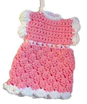 Maggie\'s Crochet · Shell Dress Potholder Free Pattern   Crochet ...