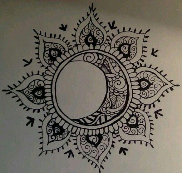 Sun And Moon Mandala Tattoo Sun Tattoos Tattoos Celestial Tattoo